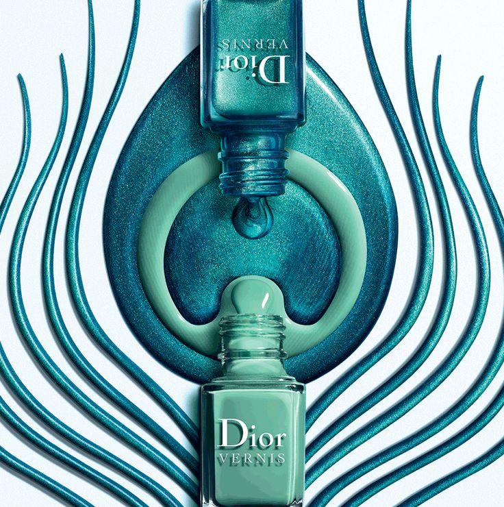 Dior Bird of Paradise collection Summer2013 . Nail polish duo