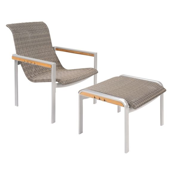 elegant outdoor furniture naples club chair and ottoman frames constructed - Kingsley Bate