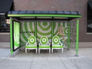 Eye-catching experiential marketing.  I like it.