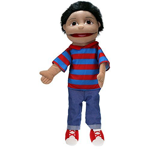 From 29.99 The Puppet Company - Puppet Buddies - Medium Boy - Olive Skin Tone Hand Puppet