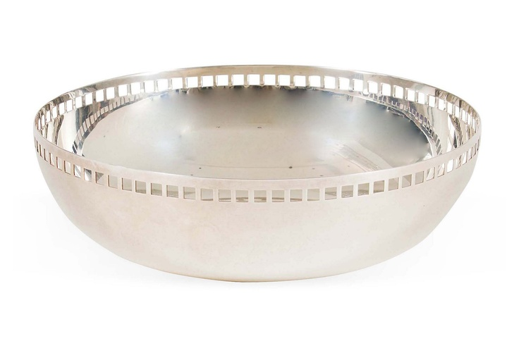 One Kings Lane - Ginny Magher - Richard Meier Silverplate Bowl 3h x 10dia $837