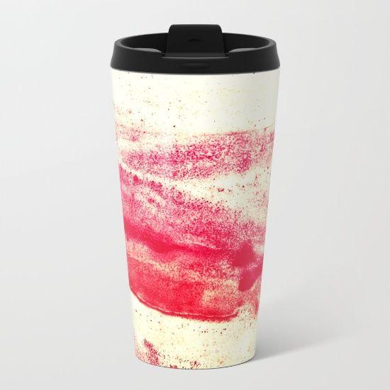 Ode to Red Metal Travel Mug