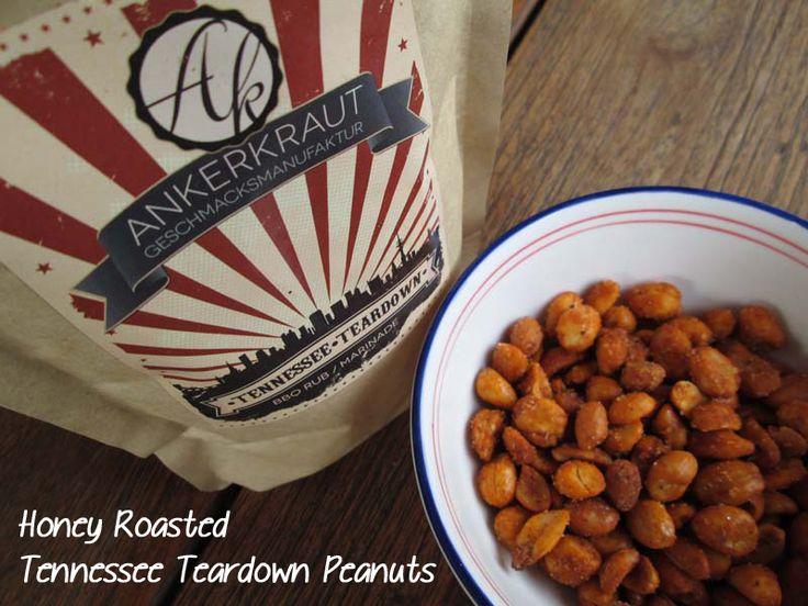 Honey Roasted Tennessee Teardown Peanuts / Geröstete Erdnüsse / Ankerkraut / http://sandrasbackfabrik.de/honey-roasted-tennessee-teardown-peanuts/