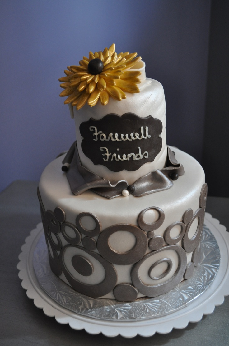 Goodbye Cake Images : 40 best images about farewell/good bye cakes - cookies on ...