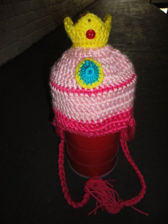 Crochet Pattern Mario Hat : Princess Peach Crochet Hat newborn adult by ...