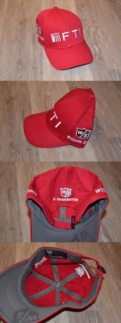 Golf Visors and Hats 158937: Padraig Harrington Fti Wilson Staff Tour Issue Logo Red Golf Hat -> BUY IT NOW ONLY: $85 on eBay!