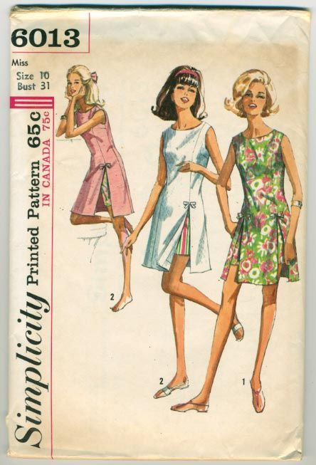 Simplicity 6013 ©1965 Play-Dress and Shorts