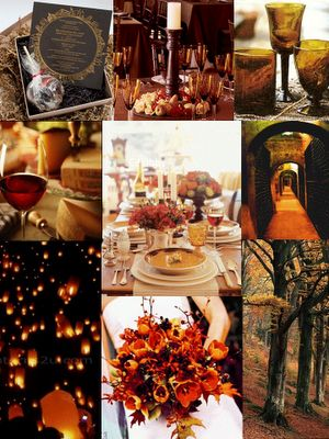 VINTAGE, FALL, DIAMONDS 1930'S THEME INSPIRATION BOARD :  wedding red FALL