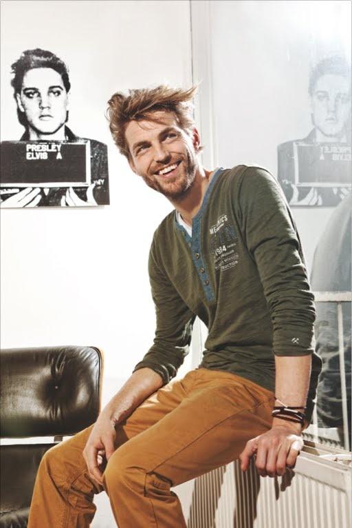 t-shirt + long sleeve + pants + casual + menswear + elvis + henley + fashion