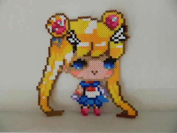 Sailor Moon Perler beads by TraumaTize