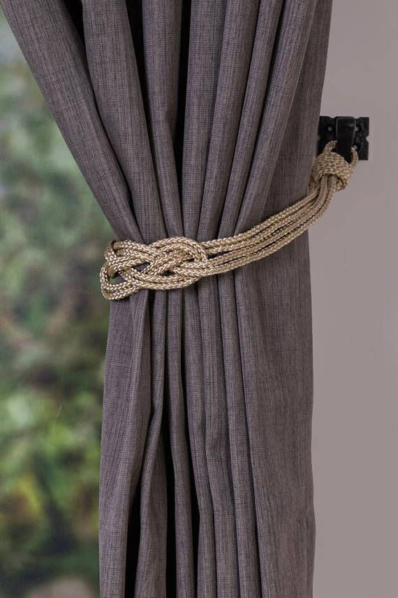 Clearance Rope Red Knot Curtain Tiebacks Small Shabby Chic