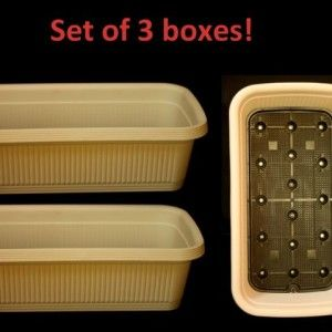 Set of 3 planter boxes to grow 3 different vegetables.