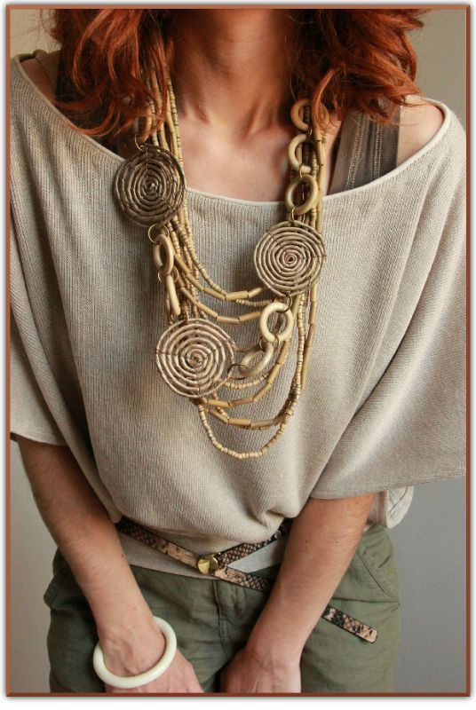 www.cewax.fr aime ce collier style ethnique afro tendance tribale