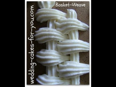 How To Basketweave A Cake - YouTube