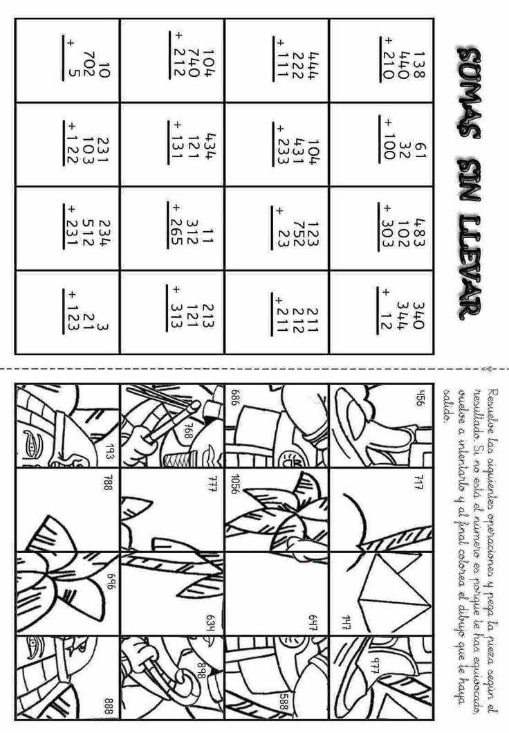 Actividades para niños preescolar, primaria e inicial. Fichas con sumas divertidas para imprimir para niños de primaria. Sumas Divertidas. 20
