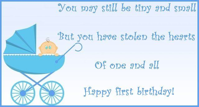 http://princesswithapen.hubpages.com/hub/First-birthday-wishes-and-poems-Messages-to-write-on-a-first-birthday-card