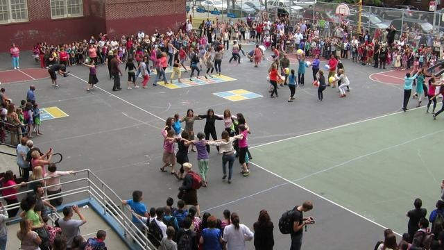 P.S.10 Flash Mob 6-19- 2012  Public School P.S.10 in Brooklyn , Josie's School - you can see Mark if you know where to look.
