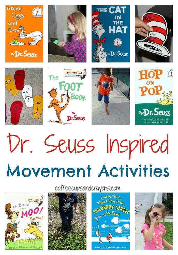 Dr. Seuss inspired activities are always tons of fun. This collection of ideas gets kids moving, too!