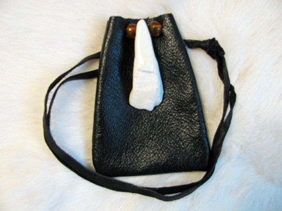 Buffalo Totem Medicine Bag Leather Bag by SpeaksWithAncestors