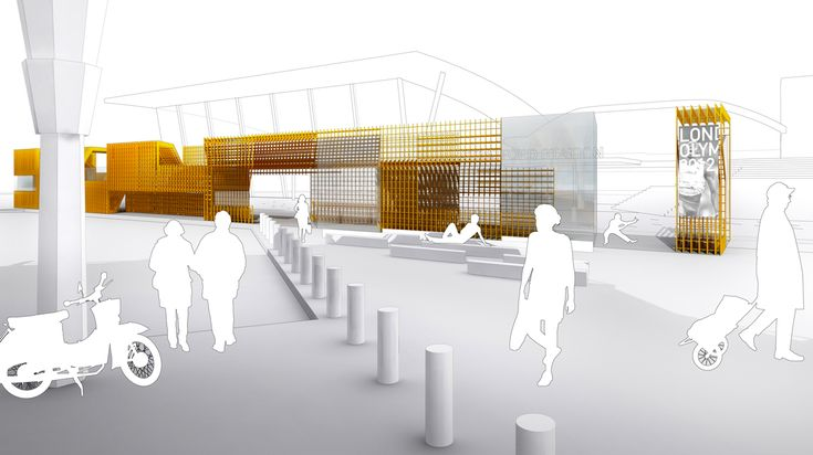 Stratford Station Olympic Kiosk Competition proposal / LGT Office,Courtesy of LGT Office