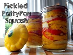 Pickled Pattypan Squash Recipe - Putting Up with Erin                                                                                                                                                      More
