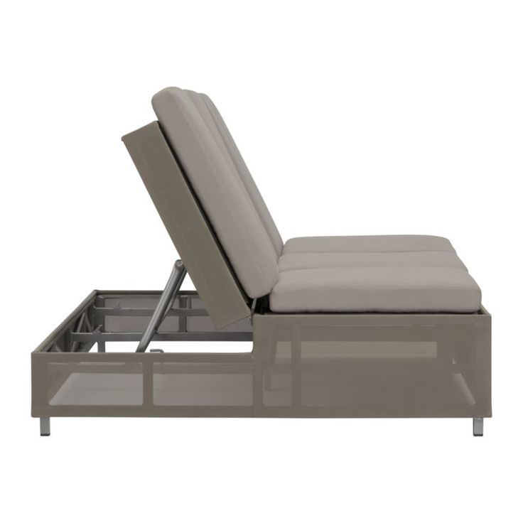 Dune Taupe Double Chaise Sofa Lounge With Sunbrella