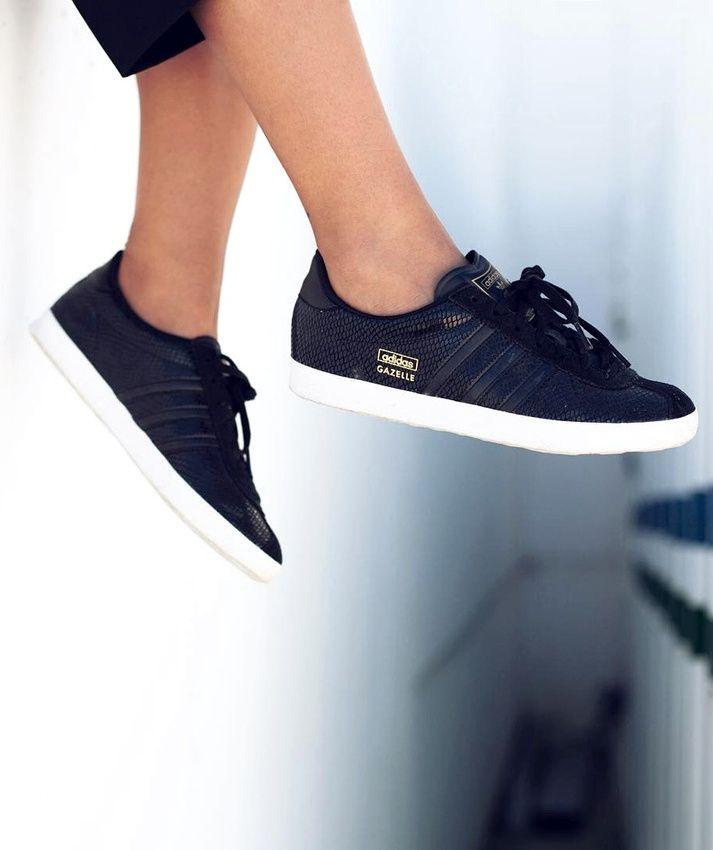 adidas gazelle croco noire femme