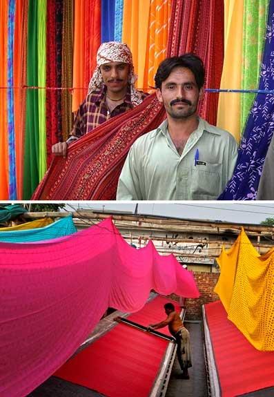 textile vendors in Karachi textile market,