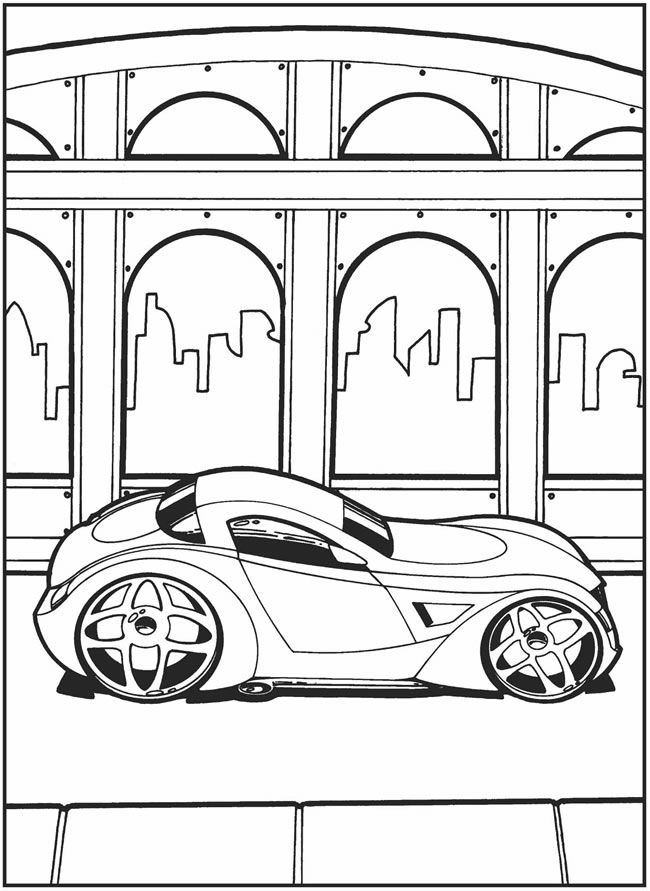 crazy car coloring pages - photo#3