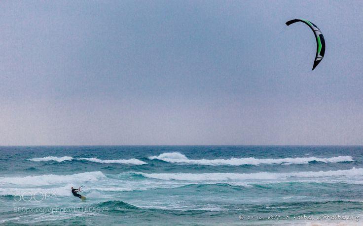 Kitesurfing by wojtekkalka