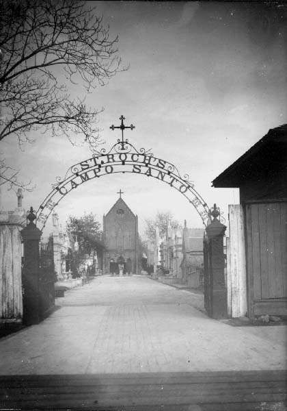 Entrance to the St. Roch's Chapel and Cemetery - 1900s Photo by C. Milo Williams