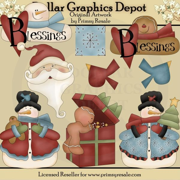 Whimsical Winter 3 - $1.00 : Dollar Graphics Depot, Quality Graphics ~ Discount Prices
