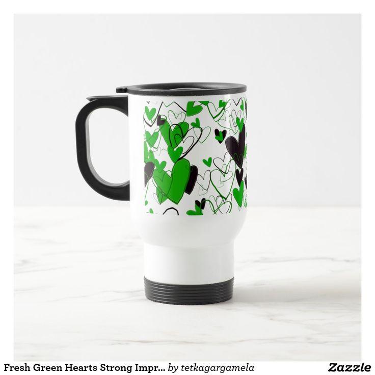 Fresh Green Hearts Strong Impressive Illustration