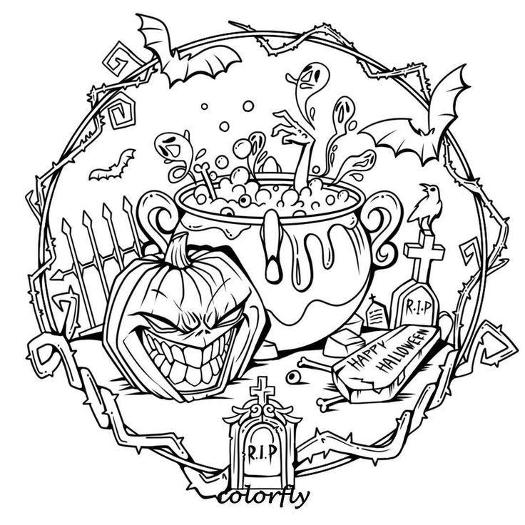 Colorfly Freebie Halloween Steht Vor Der Tur Und Du Bist Bereit Kiddo Bereit Bist C Ausmalbilder Malvorlagen Halloween Halloween Geburtstagsparty