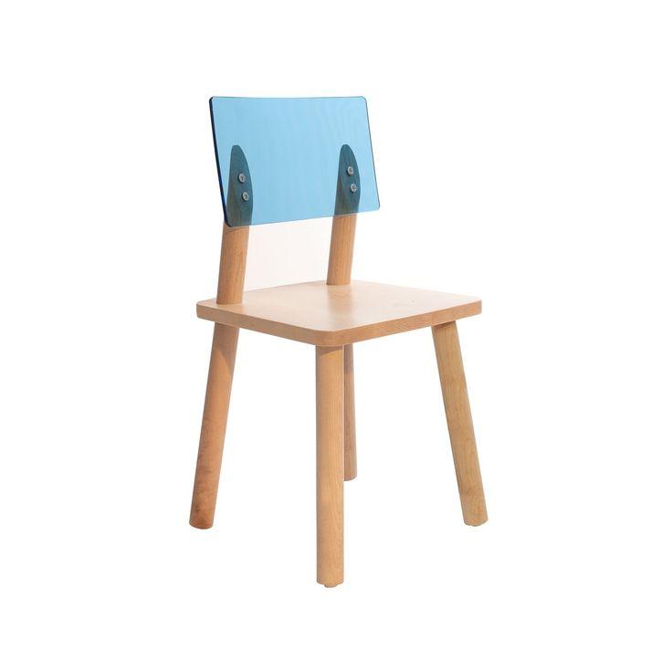 Acbc acrylic back kids chair set of 2 modern kids