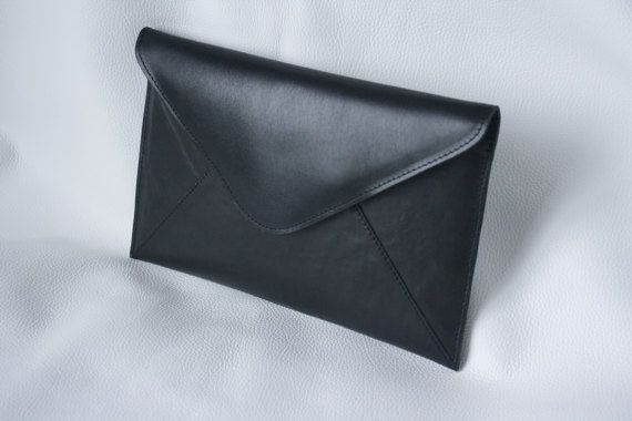 Handmade Leather Clutch by NBDLeather on Etsy