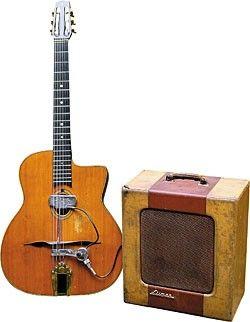 1940s Selmer Modèle Jazz, Stimer S.51 Pickup and Stimer M.10 Amplifier.
