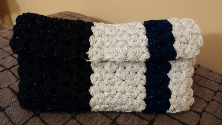 Crochet puff stat stitch purse
