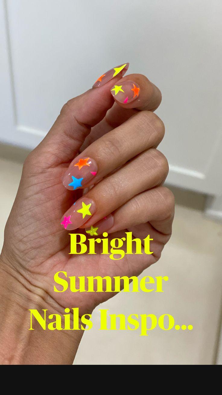 Bright Summer Nails, Bright Nails, Funky Nails, Spring Nails, Cute Nails, Best Summer Nail Color, Cute Summer Nails, Colorful Nails, Neon Acrylic Nails