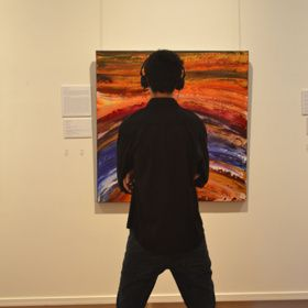Listening to the sound of 'This One Moment' | Soundscape exhibition http://froyleart.com/soundscapes