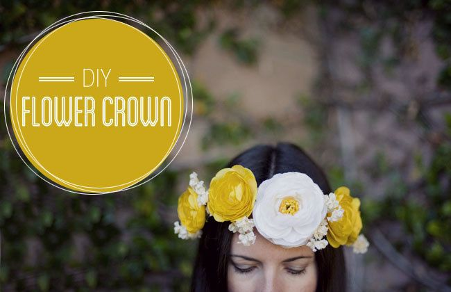 DIY your own flower crown for outdoor concerts or nights out.