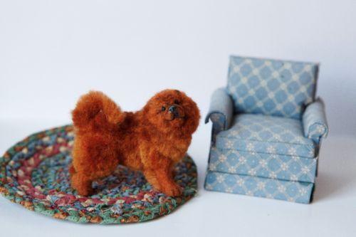 Dollhouse Miniature Chow Chow Dog Hand Furred Artist Made OOAK Dog | eBay