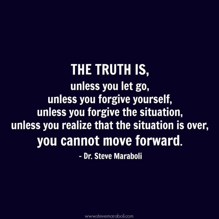 The #truth is, unless you let go, unless you #forgive yourself, unless you...