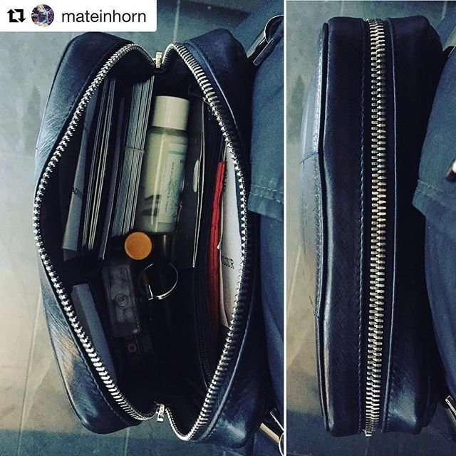 #Repost @mateinhorn  ・・・ Now you see it, now you don't! Always amazed at all I can fit in that small Holdur.  @holdur_official #itsaholdur #monholdur #holdurforever #ooaks17 #fannypack #clutch #pochette #crossbody #handcrafted #madeincanada #madeinmontreal #luxurytravelbag #travelaccessories