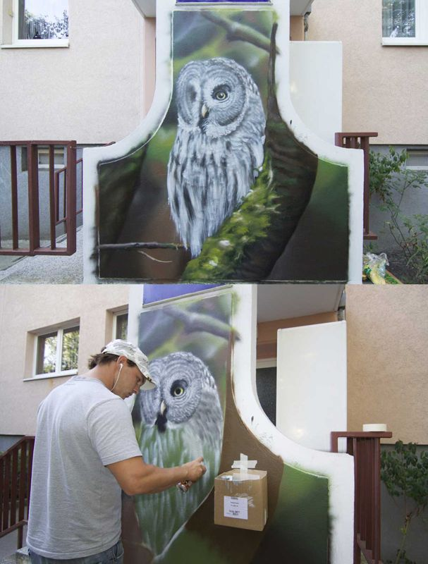 Airbrush wandgestaltung und airbrush wandbemalungen fassaden grafitti wanddekorationen im - Wandmalerei berlin ...