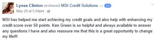 Congratulations on your results so far Lyssa! It has been our pleasure assisting you. No credit blemish is little and there are options to help you increase your credit scores. Have you recently checked your report? For more information regarding our credit repair services, real estate services and lending resources contact us today at 866-217-9841, or visit www.msicredit.com.