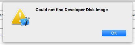 IOS Could not Find Developer Disk Image