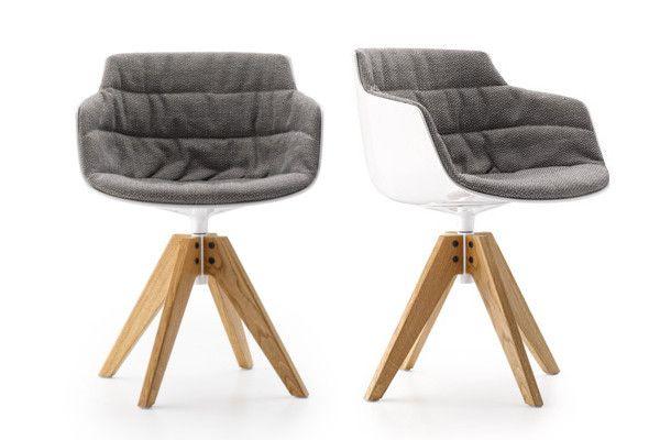 MDF italia Stoel Flow Slim armchair padded