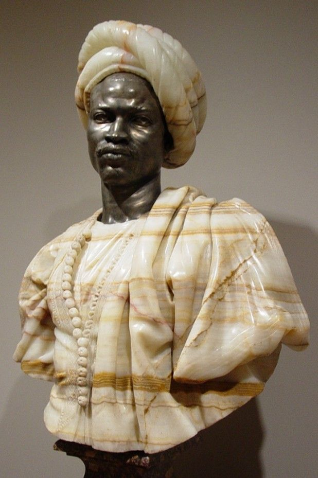 Moorish statue,before there were Europeans in Europe there were black people,which were known as moors