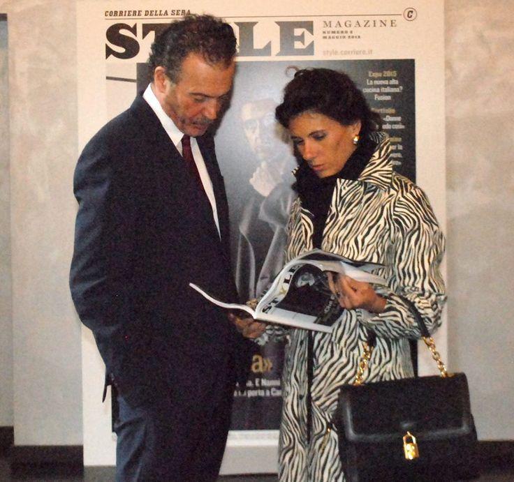 Diamante D'Alessio, direttrice di Io Donna insieme ad Alessandro Calascibetta, direttore di Style Magazine